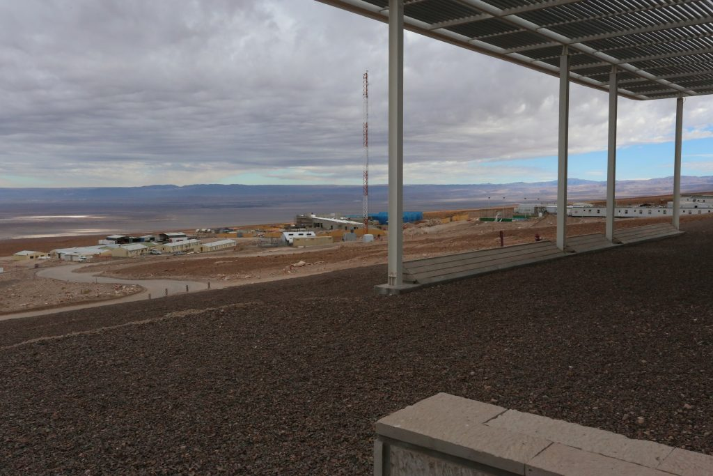 New ALMA residency, with the Atacama salt flats in the distance. (Credit: J. MacArthur)